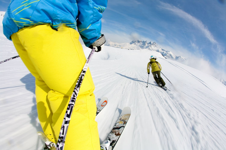 Porte du Soleil Skieurs Arnaud Kugener Gaelle Nell Joly Mars 2009