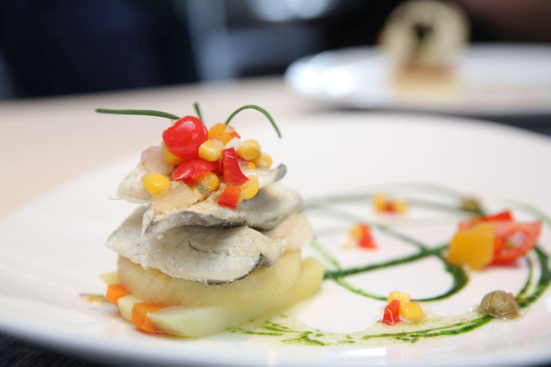 Sea Bass Fillet (Caribbean Islands) – Biban preparat la aburi, cu aroma de fructe tropicale