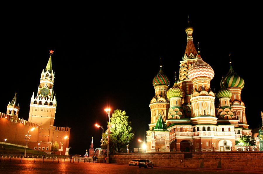 St. Basil's Cathedral, Moscow's most iconic site.