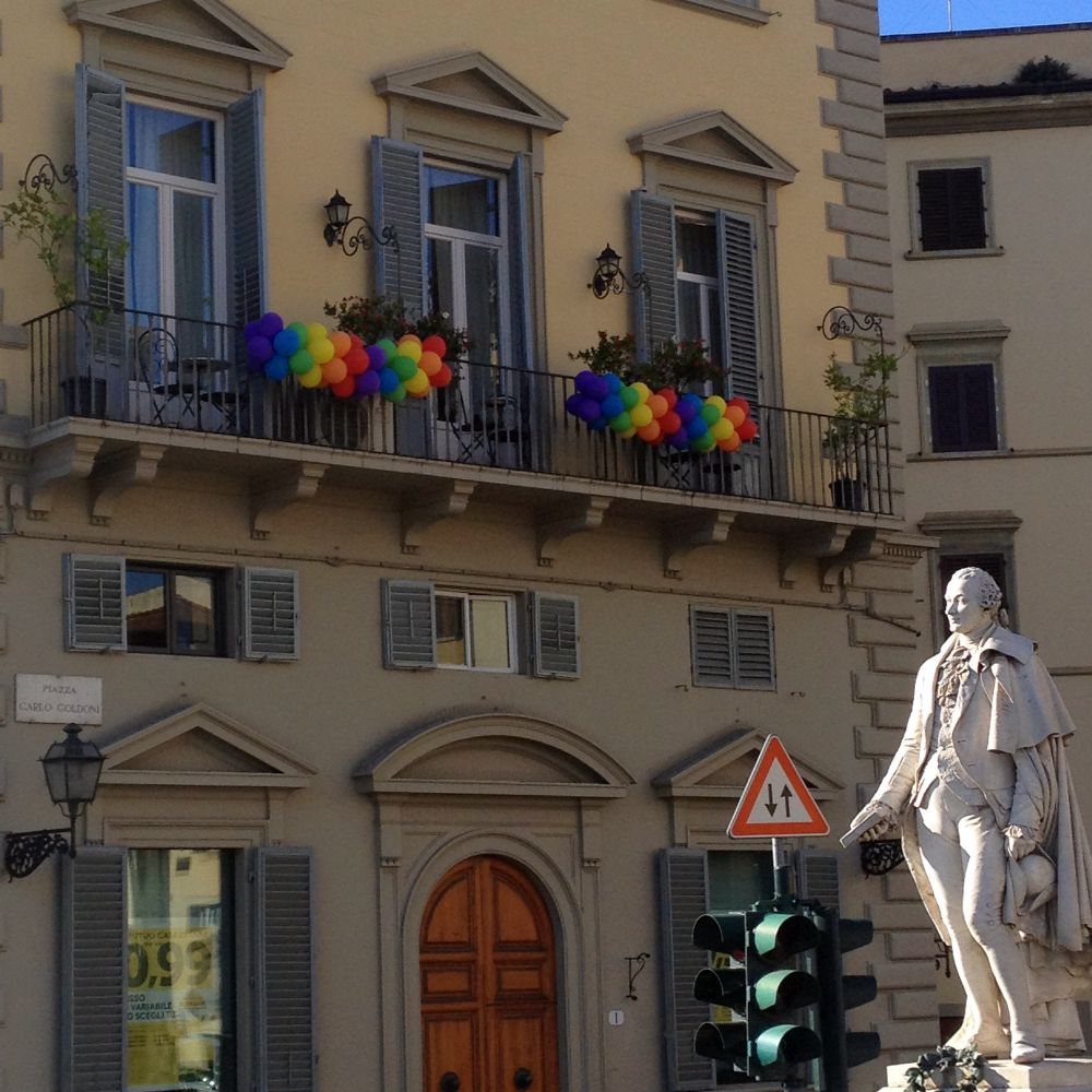 Firense decorated for Toscana Gay Pride on June 18th, 2016